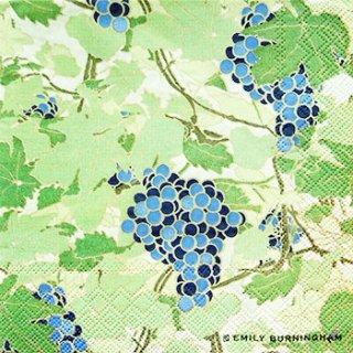 ペーパーナプキン(33)IHR:(5枚)GRAPEVINE(ブルー)-IH97