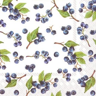 ペーパーナプキン(33)IHR:(5枚)BLUEBERRIES-IH223