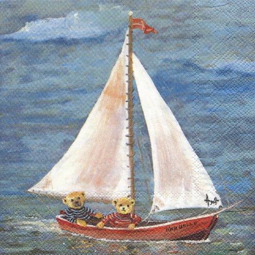 ペーパーナプキン(33)IHR:(5枚)BARBELLE(ヨット)-IH258
