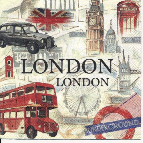 ペーパーナプキン(33)IHR:(5枚)LONDON SIGHTSEEING-IH320