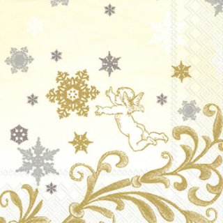 ペーパーナプキン(33)IHR:(5枚)SWEET DREAM cream-IH359