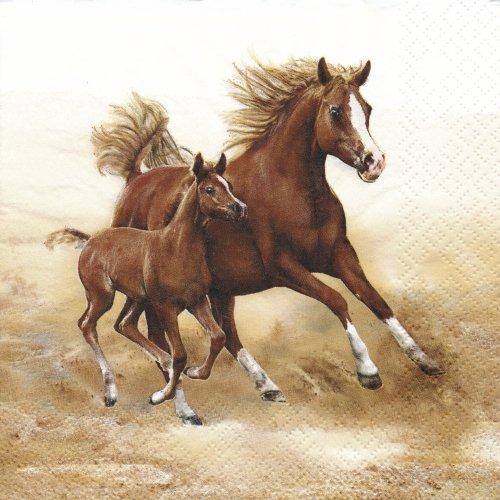 ペーパーナプキン(33)Maki:(5枚)Mare with Foal -MA126