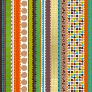 ペーパーナプキン(33)Maki:(5枚)Streifen+Punkte+bunt-MA147