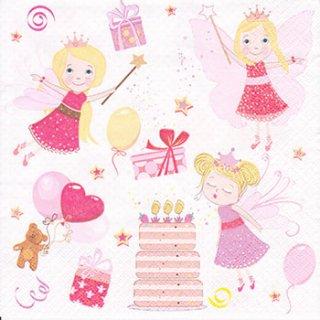 ペーパーナプキン(33)Maki:(5枚)Birthday fairies-MA158