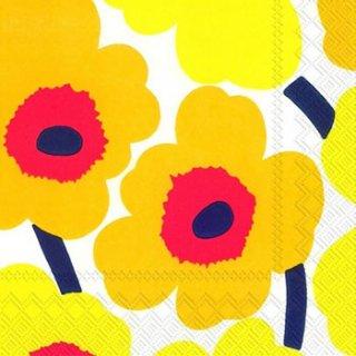 ペーパーナプキン(25)marimekkoマリメッコ:(5枚)【m-19】UNIKKO dark yellow(25)