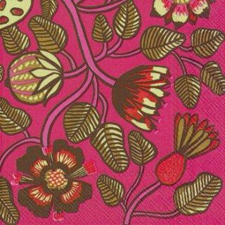 ペーパーナプキン(25)marimekkoマリメッコ:(5枚)【m-26】TIARA pink
