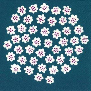 ペーパーナプキン(33)marimekkoマリメッコ:(5枚)【m-61】PUKETTI blue