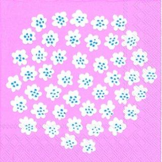 ペーパーナプキン(33)marimekkoマリメッコ:(5枚)【m-62】PUKETTI light rose