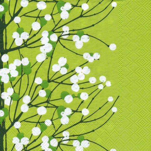ペーパーナプキン(33)marimekkoマリメッコ:(5枚)【m-82】LUMIMARJA light green