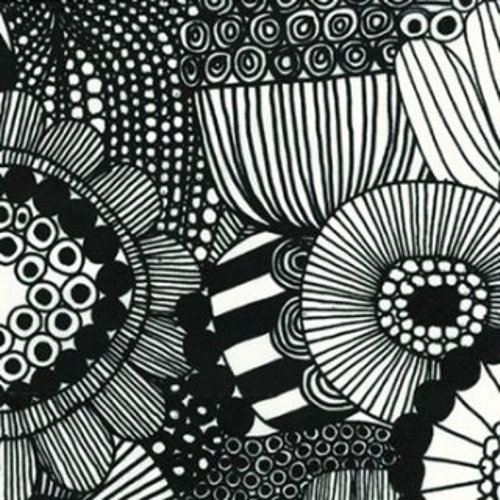 ペーパーナプキン(33)marimekkoマリメッコ:(5枚)【m-91】SIIRTOLAPUUTARHA white black