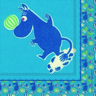 ペーパーナプキン(25)moominムーミン:(5枚)MUUMI blue-mo2(25)