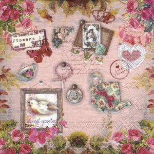 ペーパーナプキン(33)NOUVEAU:(5枚)Sweet scents-NO5