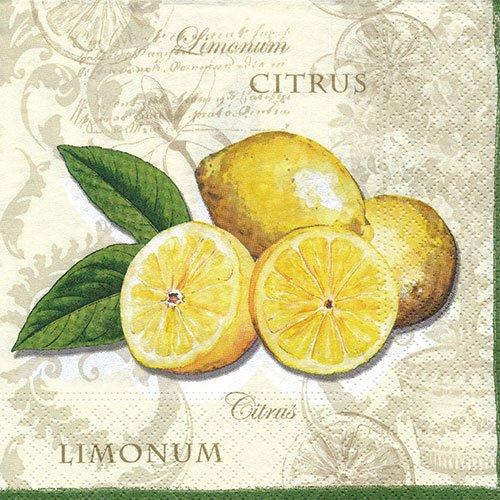 ペーパーナプキン(33)NOUVEAU:(5枚)レモン-NO19