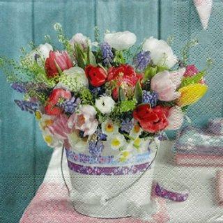 ペーパーナプキン(33)NOUVEAU:(5枚)Spring Bouquet-NO38
