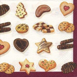 ペーパーナプキン(33)NOUVEAU:(5枚)クリスマスクッキー-NO54