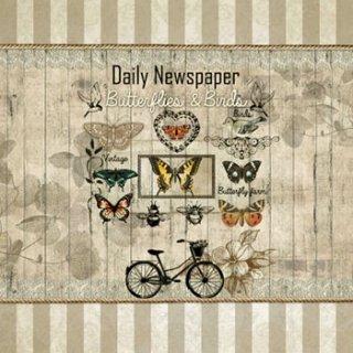 ペーパーナプキン(33)NOUVEAU:(5枚)Daily Newspaper-NO82