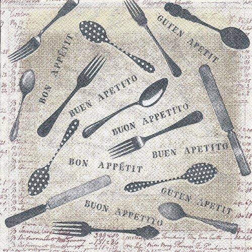 ペーパーナプキン(33)NOUVEAU:(5枚)Bon Appetit-NO89