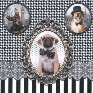ペーパーナプキン(33)Nuova:(5枚)BAROCCO DOGS 2014(犬)-NU32