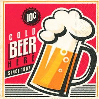 ペーパーナプキン(25)paper:(5枚)Cold Beer-PA2(25)