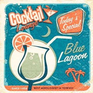 ペーパーナプキン(25)paper:(5枚)Blue Lagoon-PA3(25)