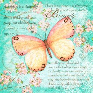 ペーパーナプキン(25)paper:(5枚)Butterfly poetry-PA14(25)