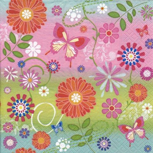 ペーパーナプキン(33)paper:(5枚)Flowery pattern-PA24