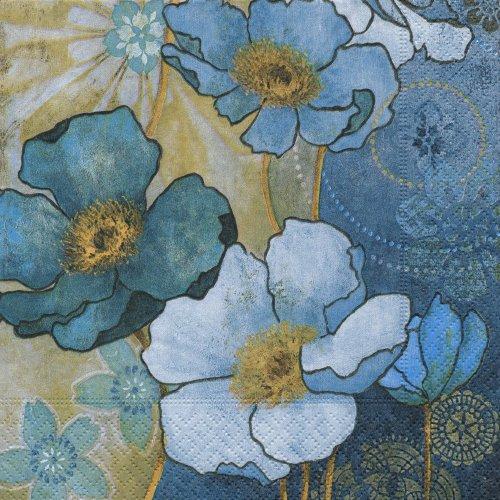 ペーパーナプキン(33)paper:(5枚)Harmony in blue-PA36