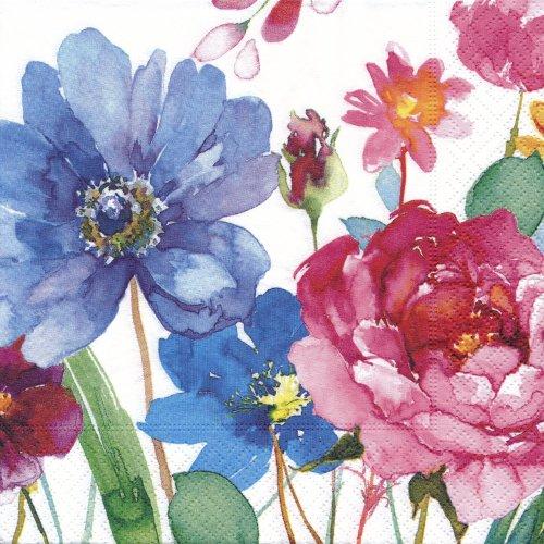 ペーパーナプキン(33)paper:(5枚)Watercolour flowers-PA43
