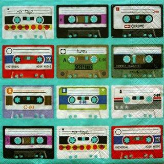 ペーパーナプキン(33)paper:(5枚)カセットテープ-PA48