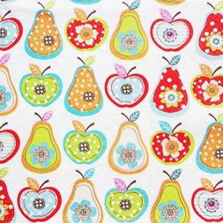 ペーパーナプキン(33)paper:(5枚)りんごと梨-PA55