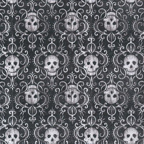 ペーパーナプキン(33)paper:(5枚)Skulls-PA207