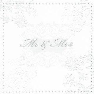 ペーパーナプキン(33)paper:(5枚)エンボスMoments Mr. & Mrs. silver-PA267