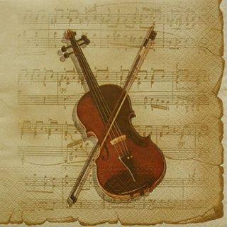 ペーパーナプキン(33)paw:(5枚)楽譜190511-PW28