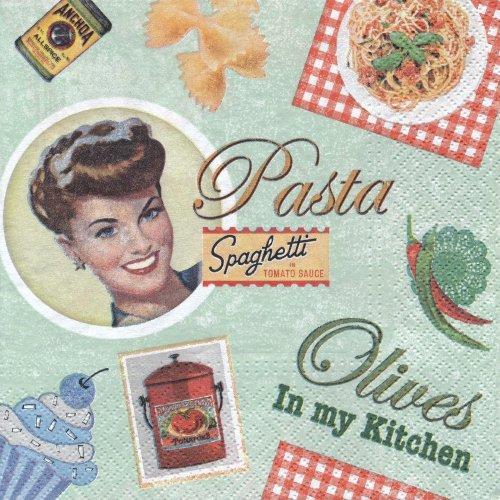 ペーパーナプキン(33)paw:(5枚)Vintage Cooking-PW81