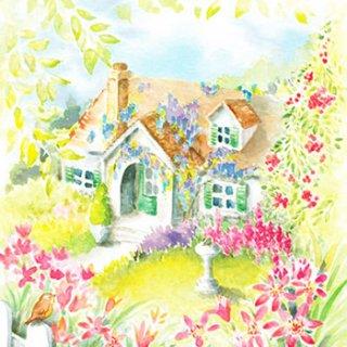 ペーパーナプキン(33)paw:(5枚)House in the Country-PW106