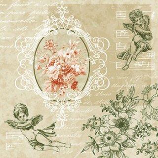 ペーパーナプキン(33)paw:(5枚)Angels among Flowers-PW111