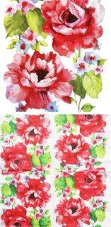 ペーパーナプキン(33)paw:(5枚)Watercolor Roses-PW121