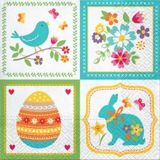 ペーパーナプキン(33)paw:(5枚)Easter Collage-PW137