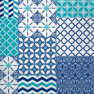 ペーパーナプキン(33)paw:(5枚)Textures of Wallpapers-PW144
