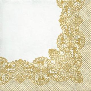 ペーパーナプキン(33)paw:(5枚)Royal Lace (gold)-PW151