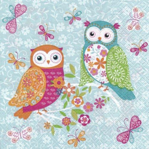 ペーパーナプキン(33)paw:(5枚)Magical Owls-PW156