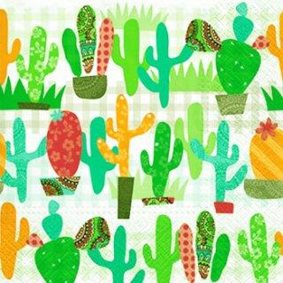 ペーパーナプキン(33)paw:(5枚)Cactus Garden-PW158
