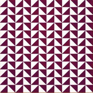 ペーパーナプキン(33)paw:(5枚)Lanes of Triangles (violet)-PW166