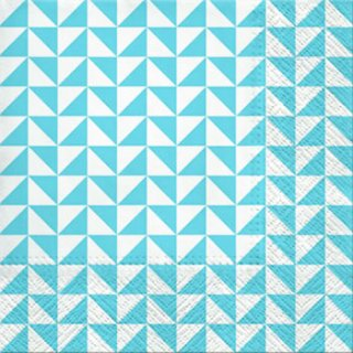 ペーパーナプキン(33)paw:(5枚)Lanes of Triangles (blue)-PW167