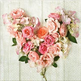 ペーパーナプキン(33)paw:(5枚)Rose Heart-PW172