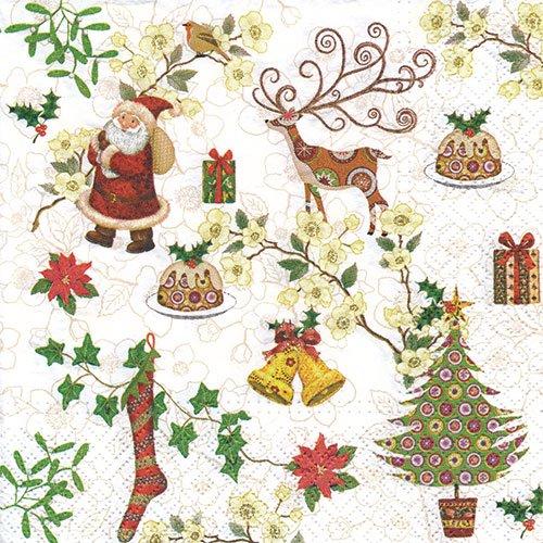 ペーパーナプキン(33)paw:(5枚)Christmas Items-PW176