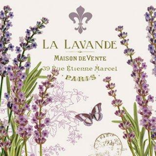 ペーパーナプキン(25)ppd:(5枚)La Lavande-PP3(25)