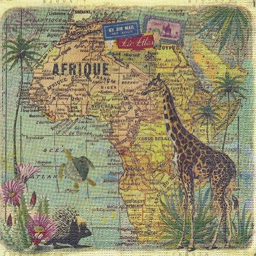 ペーパーナプキン(33)ppd:(5枚)Travel to Africa-PP39
