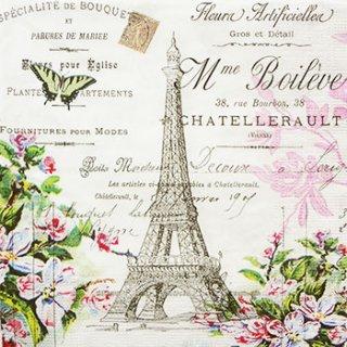 ペーパーナプキン(33)ppd:(5枚)La Tour Eiffel-PP54