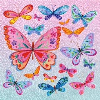 ペーパーナプキン(33)ppd:(5枚)Butterflies Allover-PP58